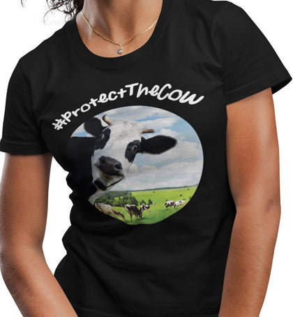 #ProtectTheCow / Women's Semi-fitted Tee