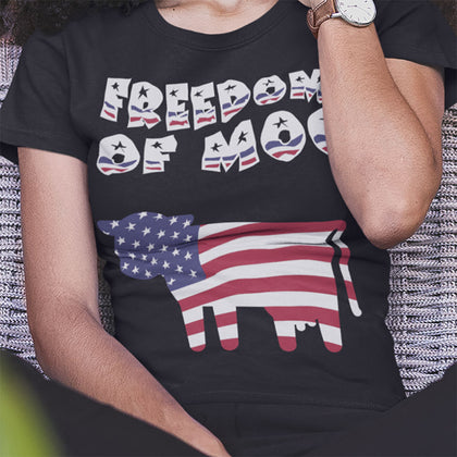 Freedom Of Moo / Women's Semi-fitted Tee