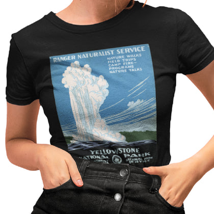 Yellowstone WPA Poster / Women's Semi-fitted Tee