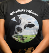 @DevinCow: #NotBackingDown / Women's V-neck Tee