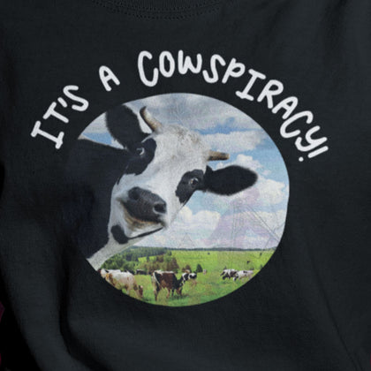 It's A Cowspiracy / Women's Semi-fitted Tee