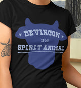 Devin Cow Is My Spirit Animal / Women's V-neck Tee