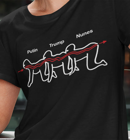 Putin-Trump-Nune's Centipede / Women's Semi-fitted Tee