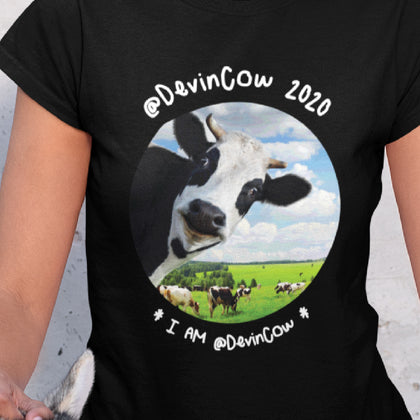 @DevinCow 2020: I AM @DEVINCOW / Women's V-neck Tee