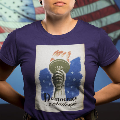 Democracy ... A Challenge / Women's Semi-fitted Tee