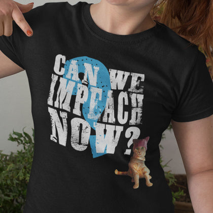 Can We Impeach Now? Resistance Kitty / Women's Semi-fitted Tee