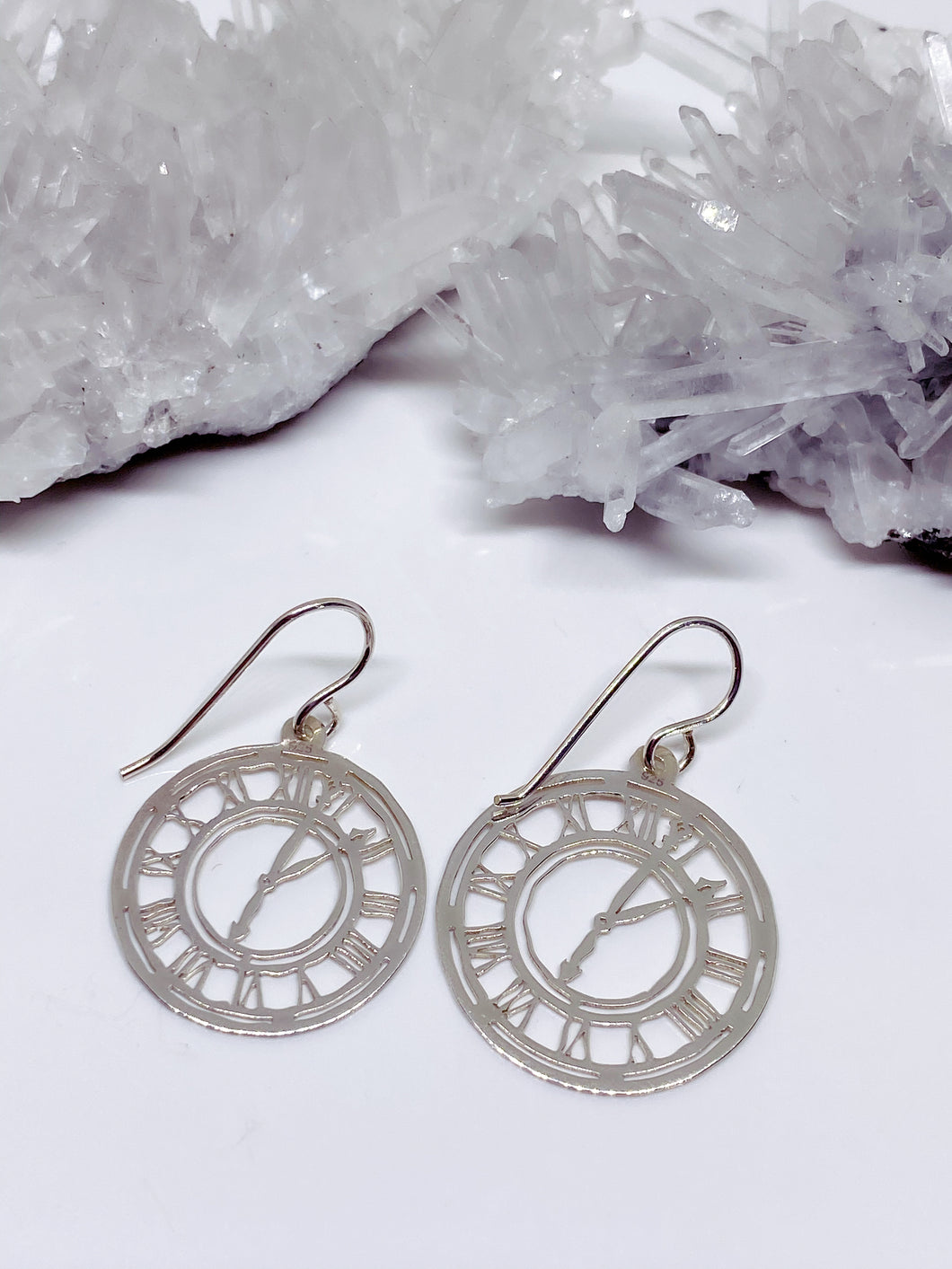 Clock Earrings - Sterling Silver