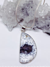 Dendritic Agate Pendant - Sterling Silver with Chain