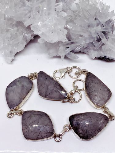 Tourmaline in Quartz Bracelet - Sterling Silver