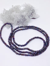 Extra Small Peacock Black Freshwater Pearl Strand - Over The Head