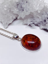 Baltic Amber Pendant - Sterling Silver with Chain