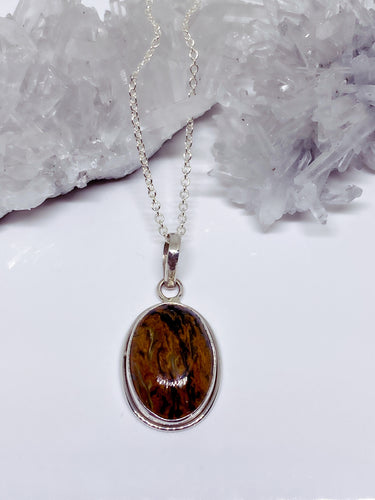 Pietersite Pendant - Sterling Silver with Chain