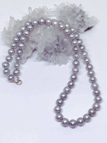 Freshwater Pearl Strand - Silver with Sterling Silver Clasp
