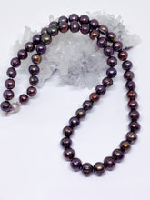 Freshwater Black Pearl Strand - Sterling Silver Clasp