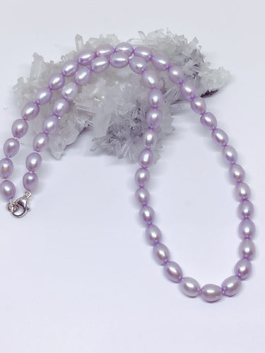 Freshwater Pearl Strand - Lavender with Sterling Silver Clasp