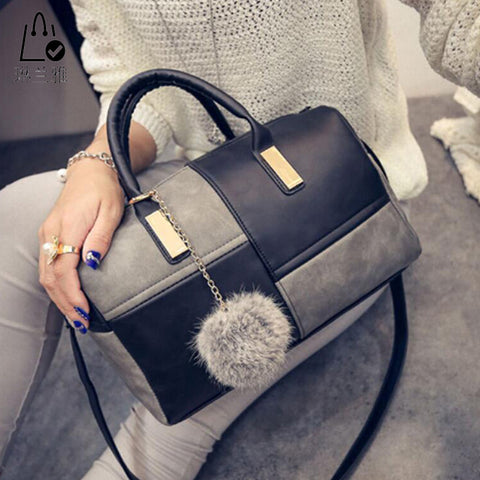 Fashionable Patchwork Pillow Handbags