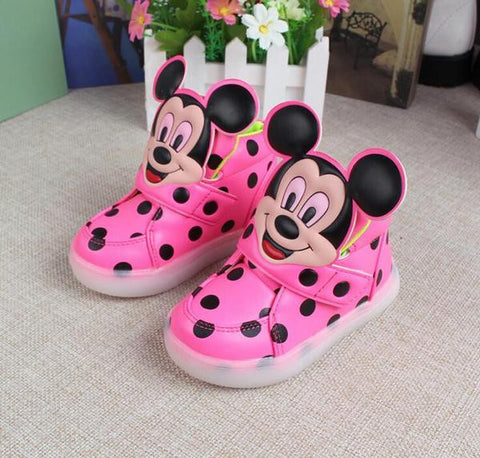 CUTE MOUSE TODDLER LED SHOES