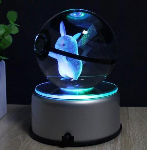Pokemon LED Crystal Lamp