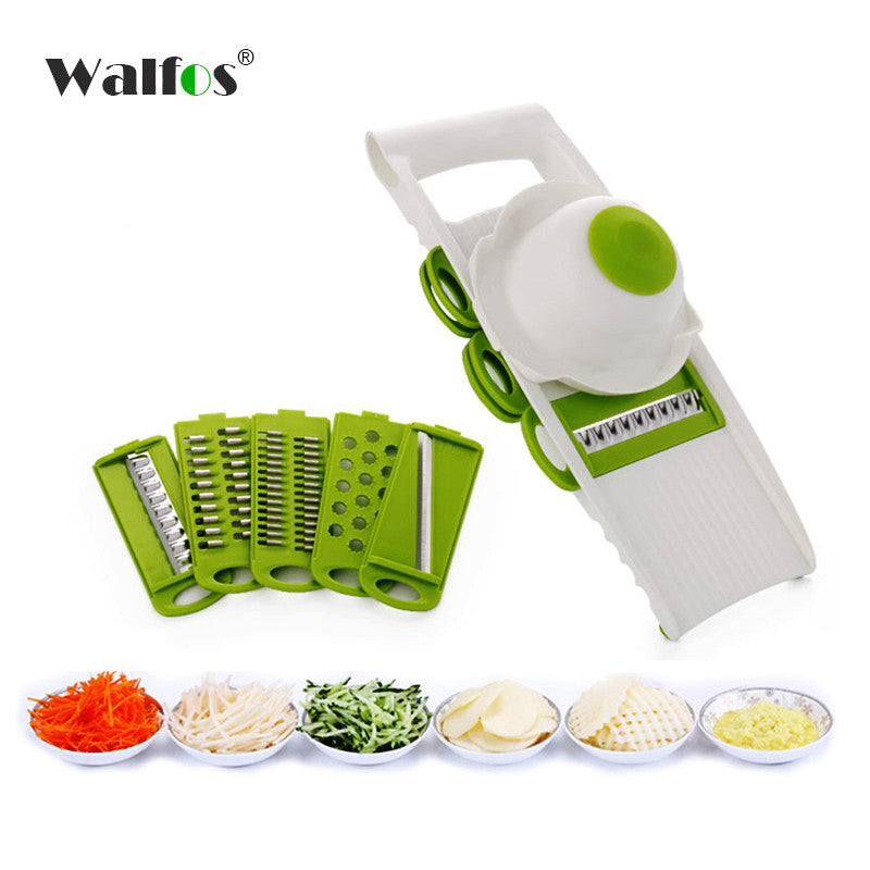 Mandoline Vegetable Cutter with 5 Stainless Steel Blade