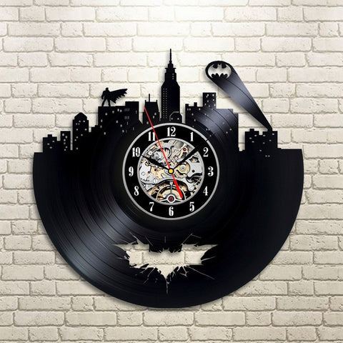 Batman Vinyl Record Design Wall Clock