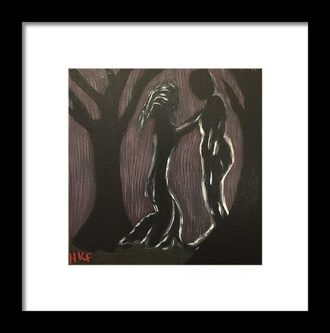 Dark Meeting - Framed Print