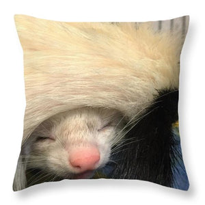 Ferret Tail Hat - Throw Pillow