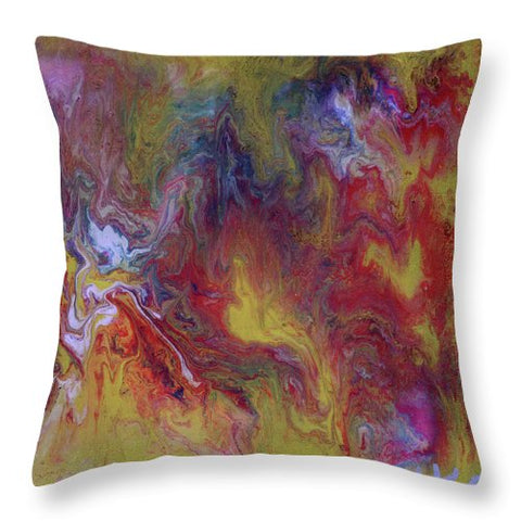 Metallic Swirl - Throw Pillow