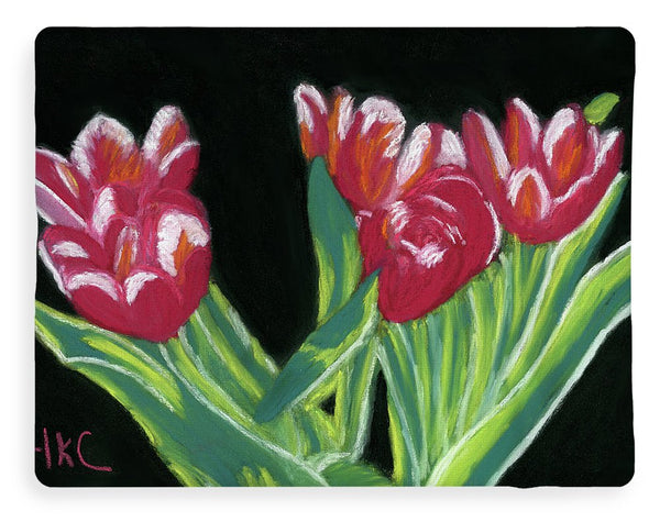 Tulips In High Contrast - Blanket