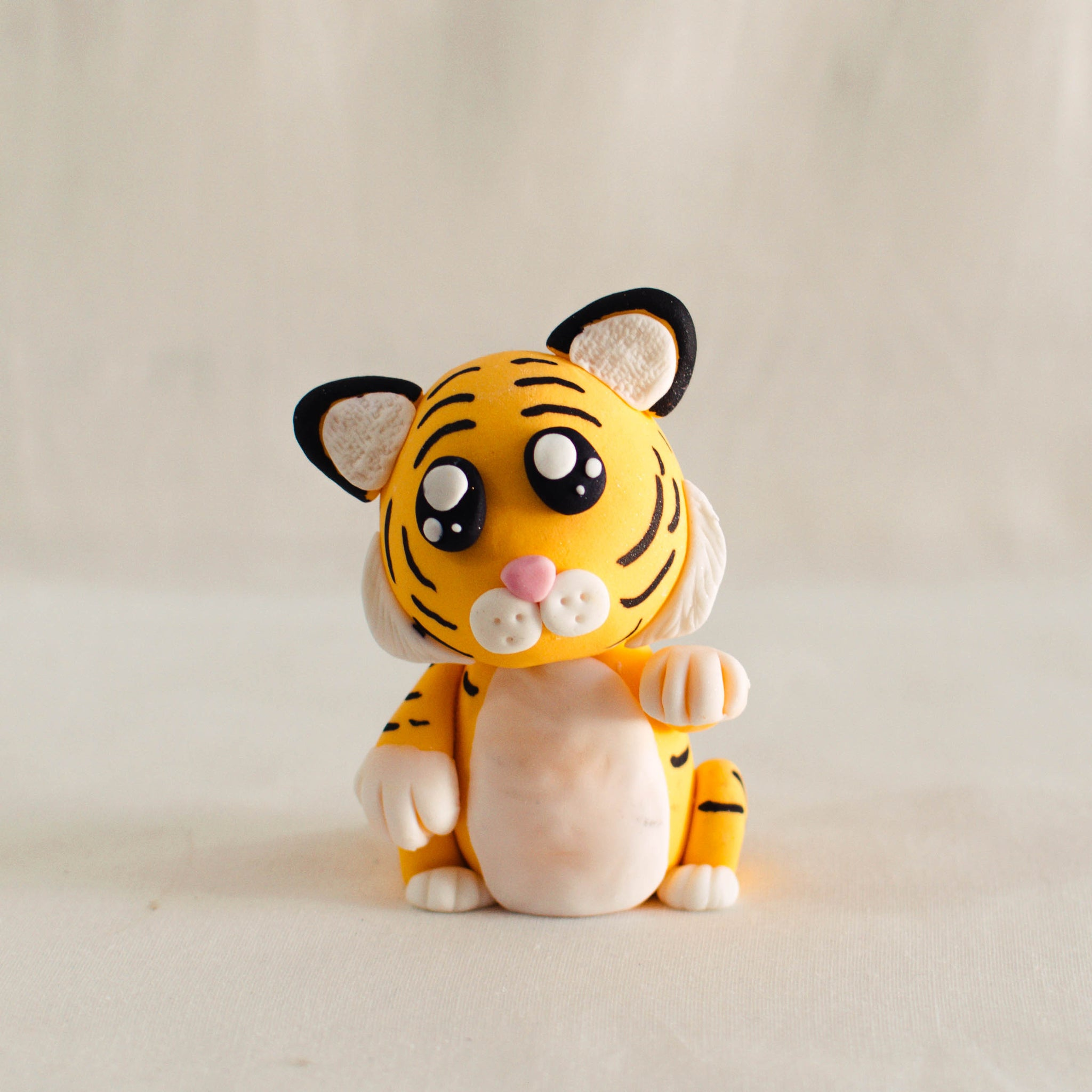 Baby Tiger Fondant Topper - Custom Bakes by Edith Patisserie