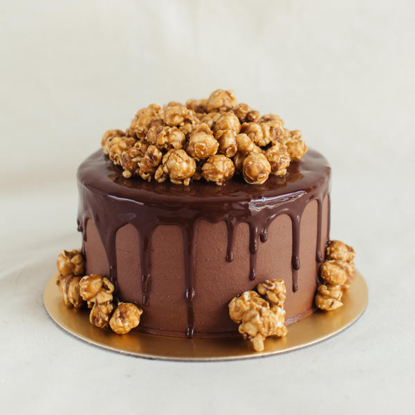 Chocolate Popcorn Cake - Custom Bakes by Edith Patisserie