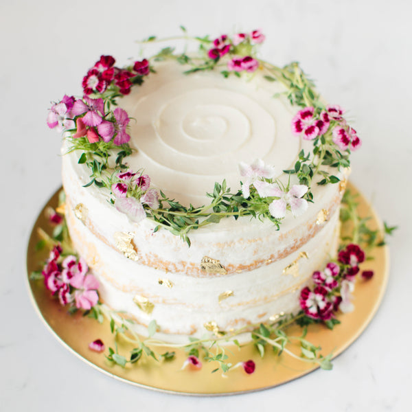 Rustic Thyme Wreath Cake - Custom Bakes by Edith Patisserie