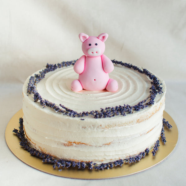 Pig Fondant Topper - Custom Bakes by Edith Patisserie