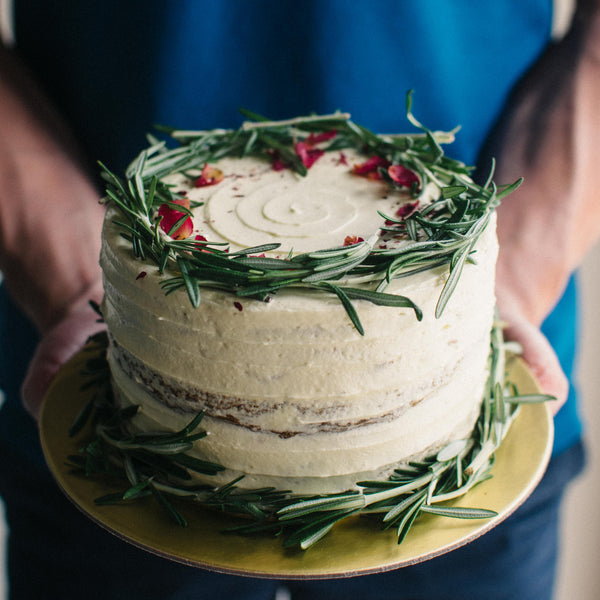 Rustic Rosemary Wreath Cake - Custom Bakes by Edith Patisserie
