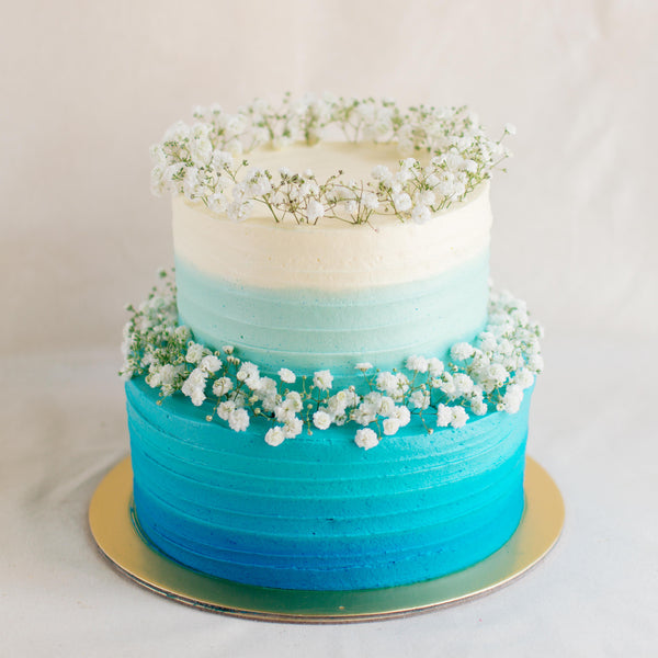 Buy Two Tier Ombre With Baby S Breath At Custom Bakes By