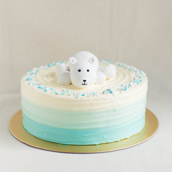 Polar Bear Topper - Custom Bakes by Edith Patisserie