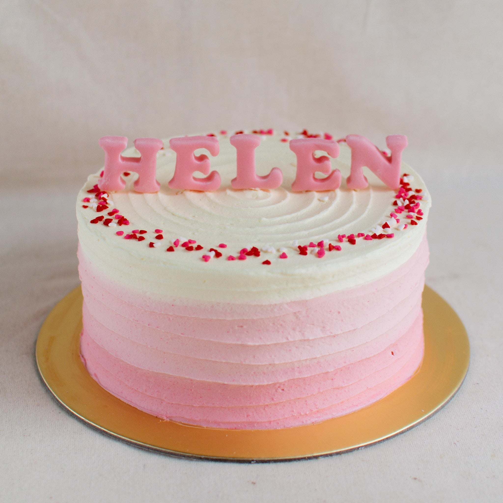 Fondant Name - Custom Bakes by Edith Patisserie