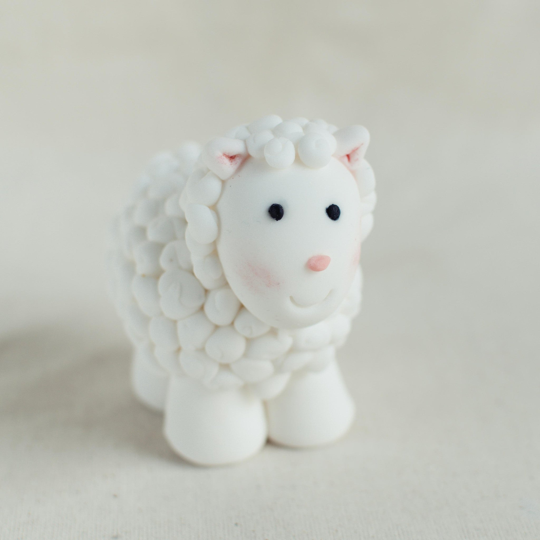 Sheep Fondant Topper - Custom Bakes by Edith Patisserie
