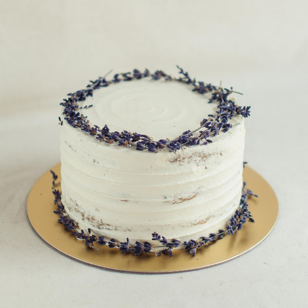 Rustic with Dried Lavender - Custom Bakes by Edith Patisserie