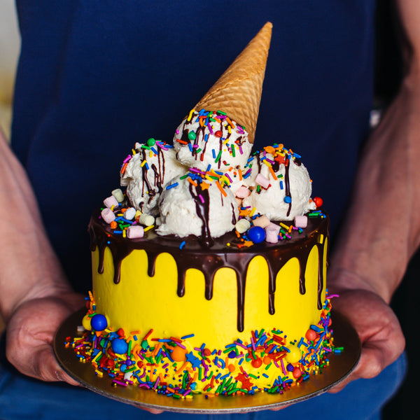 Ice Cream Sundae Cake - Custom Bakes by Edith Patisserie