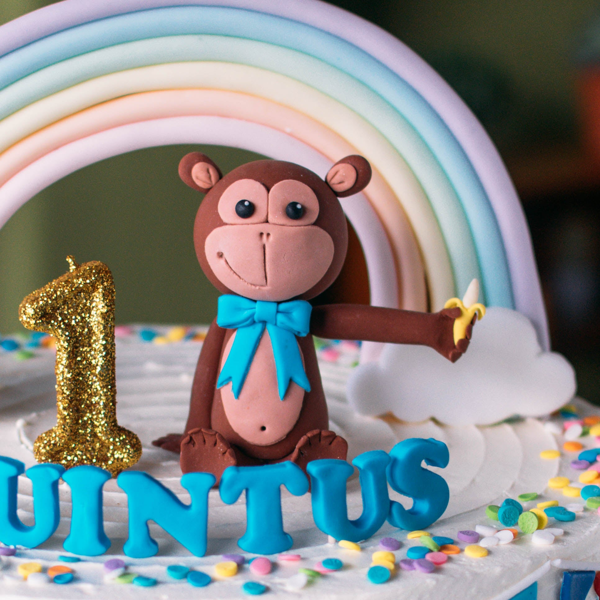 Cheeky Monkey Fondant Topper - Custom Bakes by Edith Patisserie