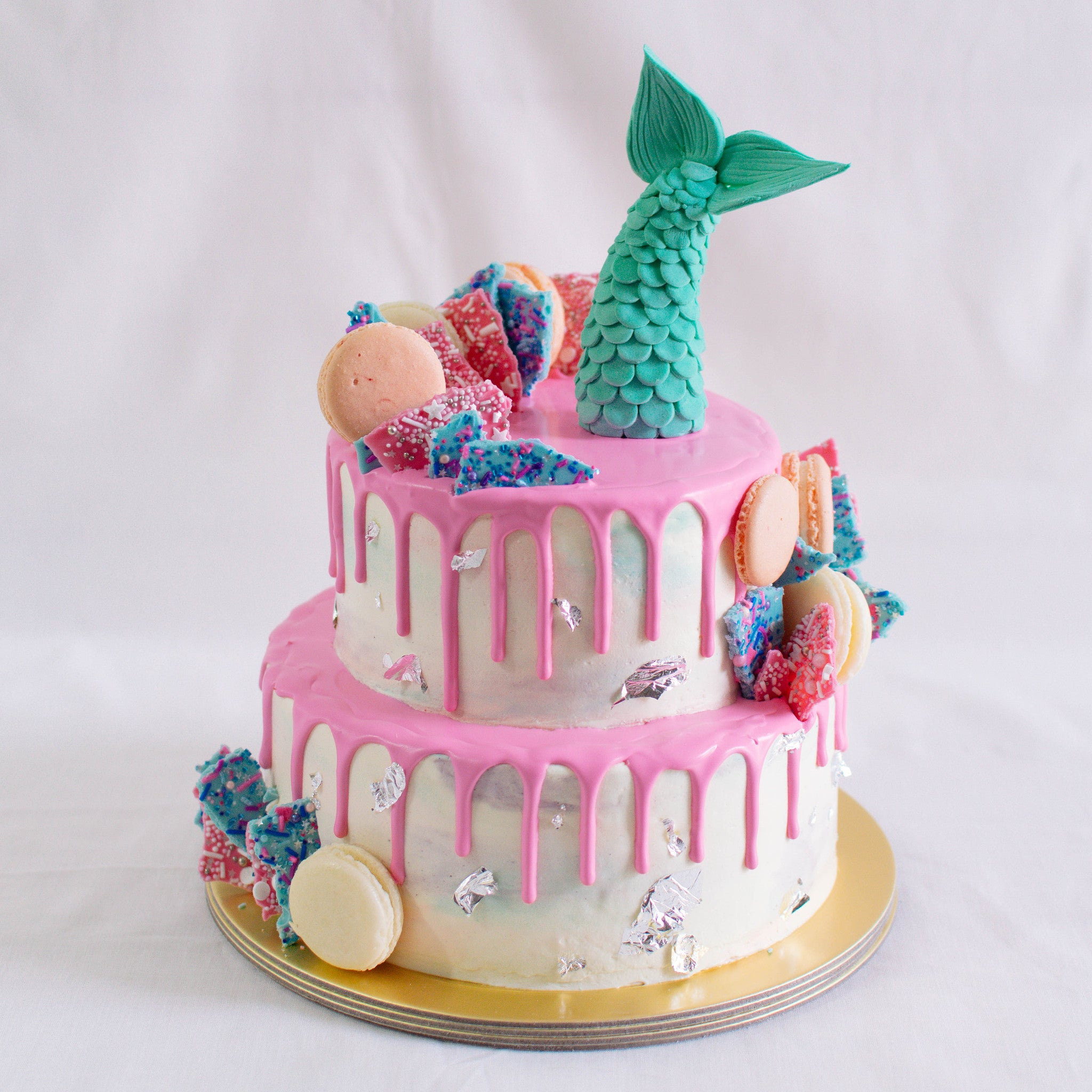 Mermaid Tail Fondant Topper - Custom Bakes by Edith Patisserie