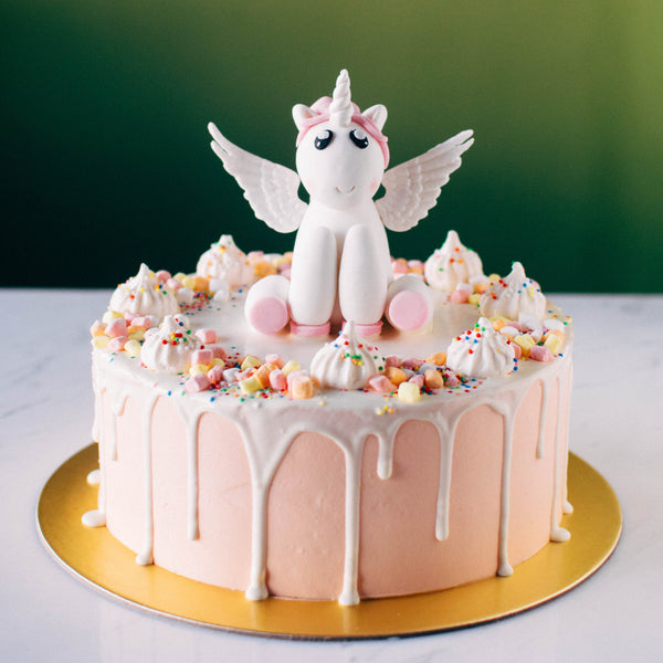 Flying Unicorn Fondant Topper - Custom Bakes by Edith Patisserie