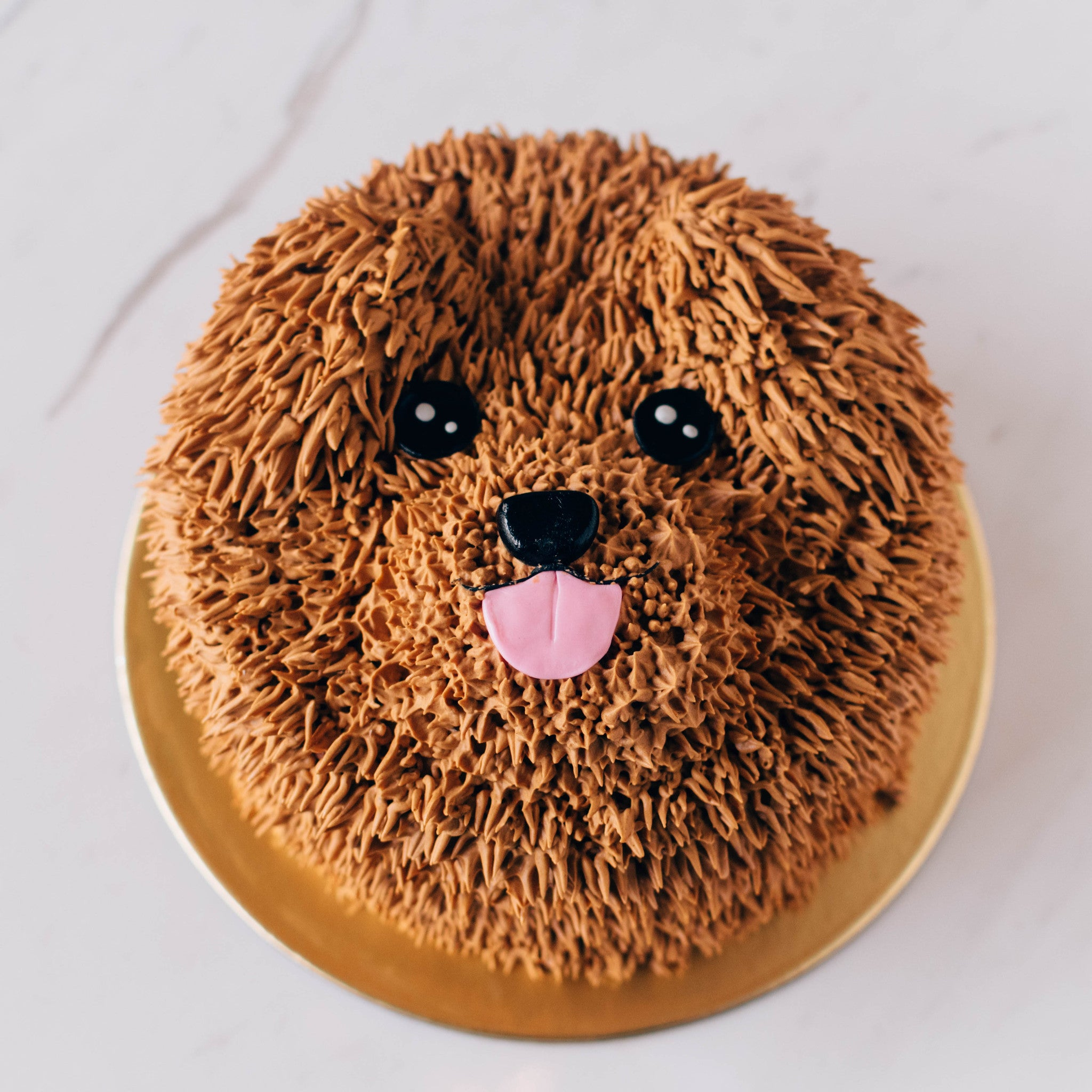 Brown Dog Cake - Custom Bakes by Edith Patisserie