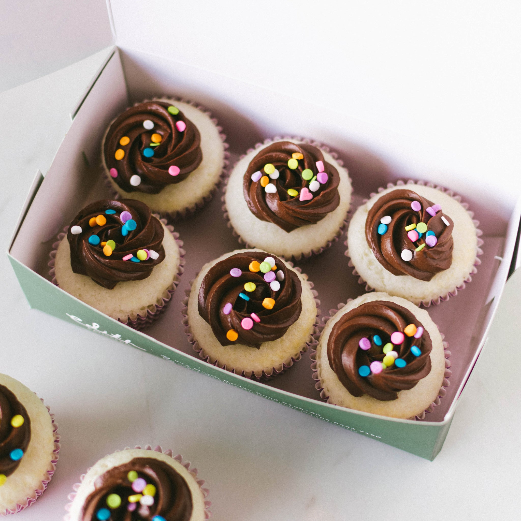Mini Vanilla Chocolate Cupcakes (Egg-Free & Dairy-Free) - Custom Bakes by Edith Patisserie