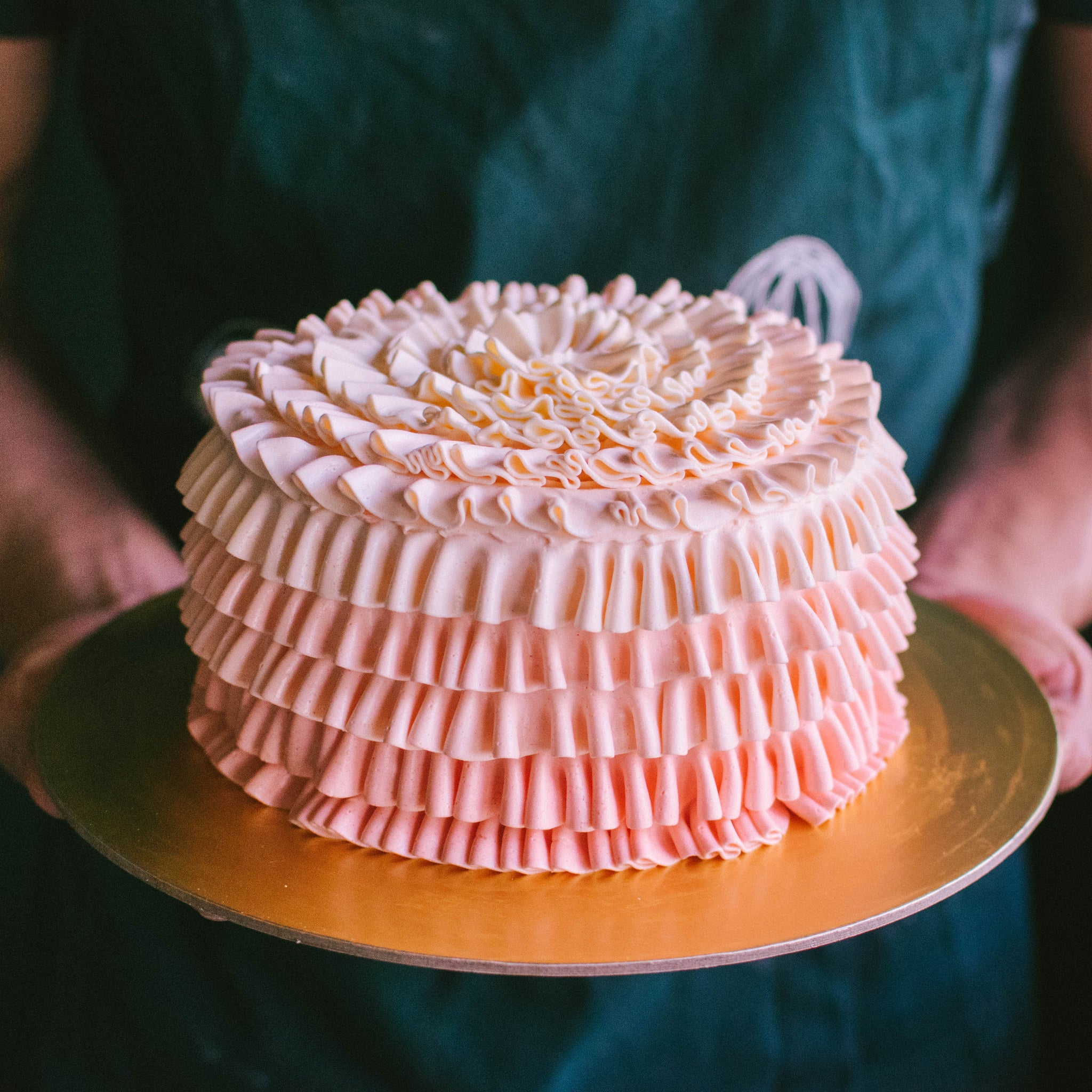 Piped Ruffles Cake - Custom Bakes by Edith Patisserie