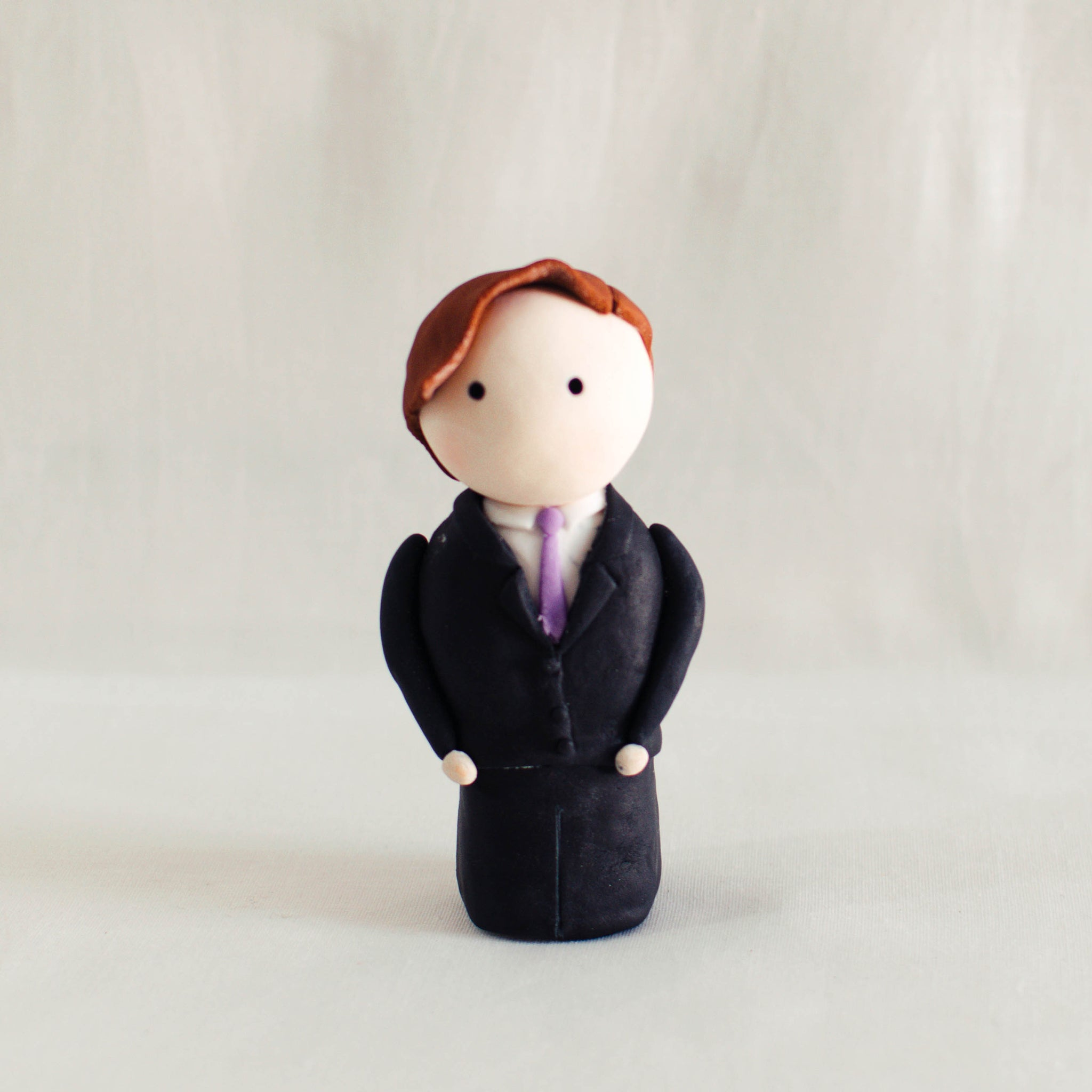 Groom Fondant Topper - Custom Bakes by Edith Patisserie