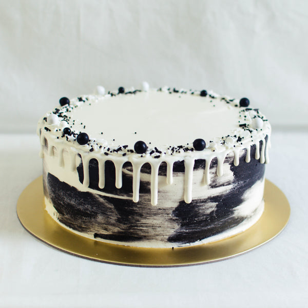 Marbled Cake with Chocolate Drizzle - Custom Bakes by Edith Patisserie