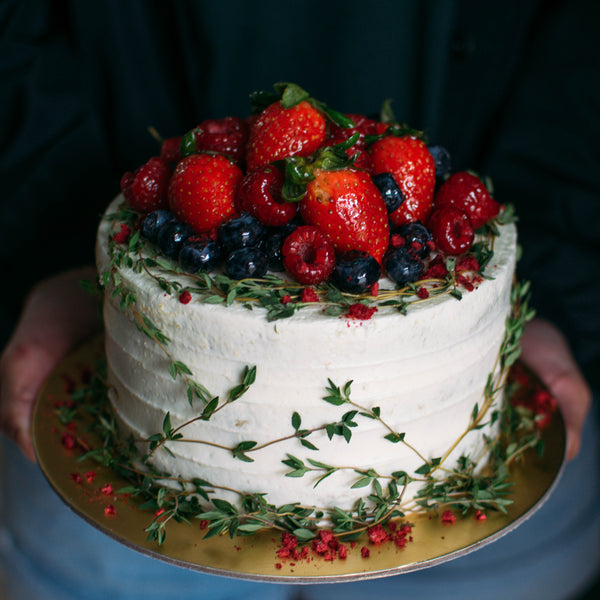 Rustic Thyme with Berries - Custom Bakes by Edith Patisserie