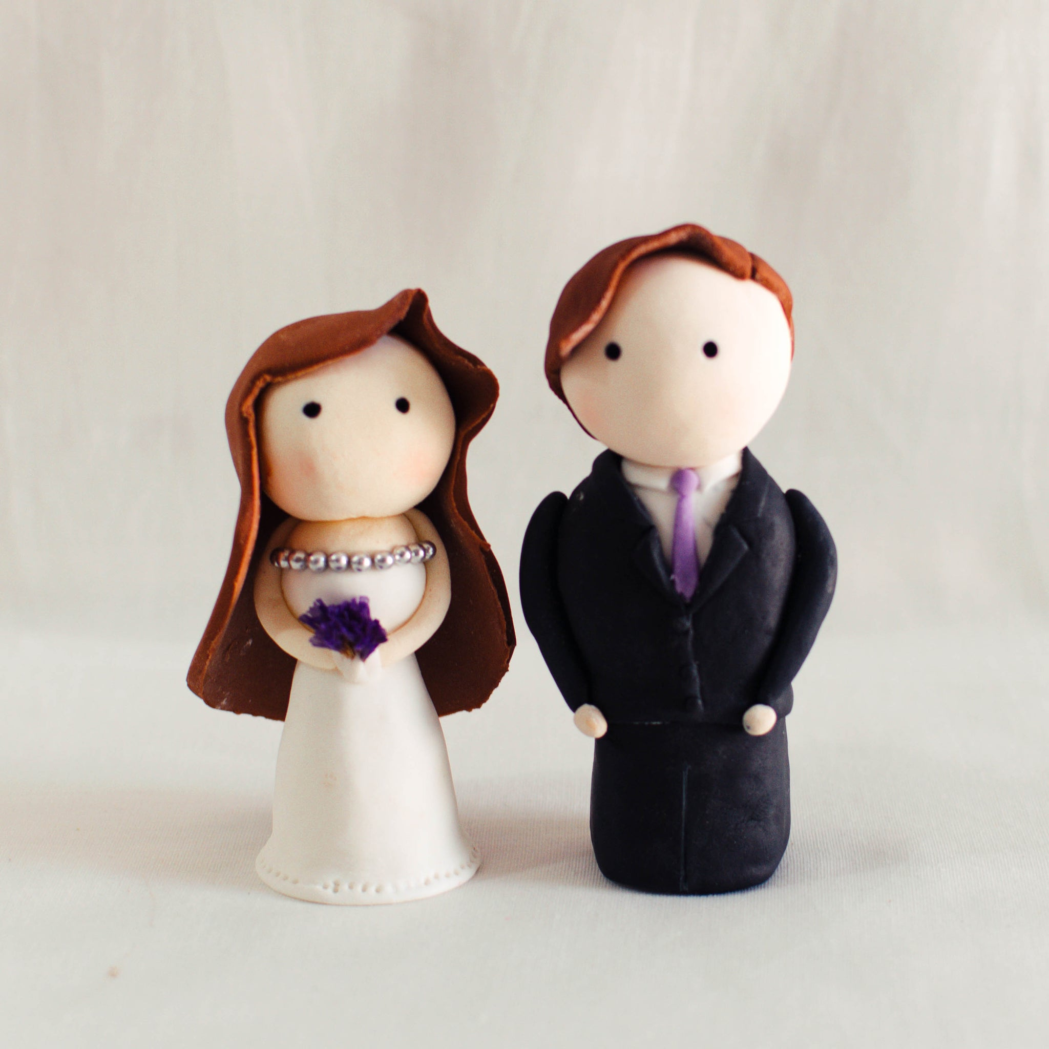 Bride and Groom Fondant Topper - Custom Bakes by Edith Patisserie