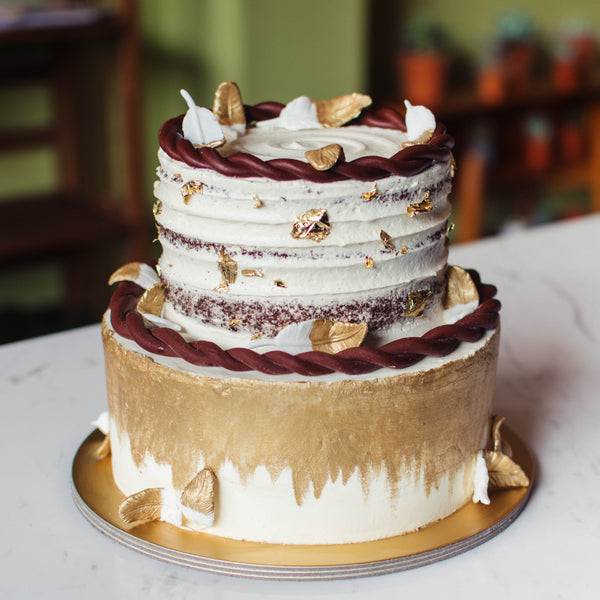Two-Tier Bohemian Rustic Cake - Custom Bakes by Edith Patisserie
